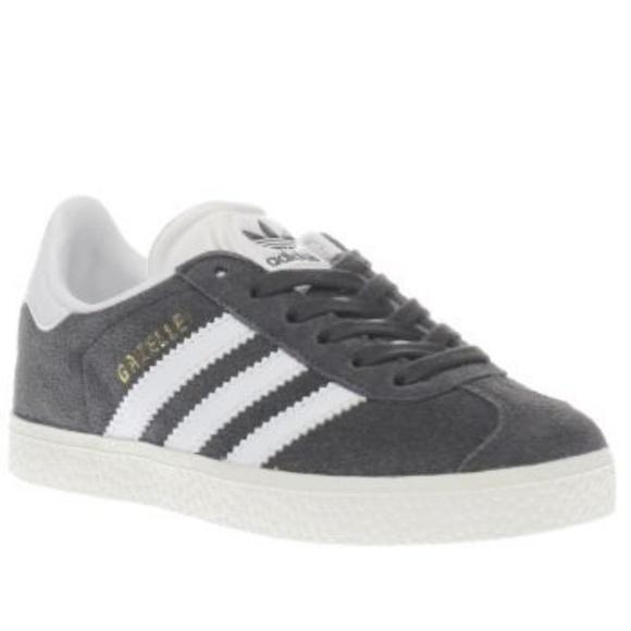 adidas gazelle grey childrens
